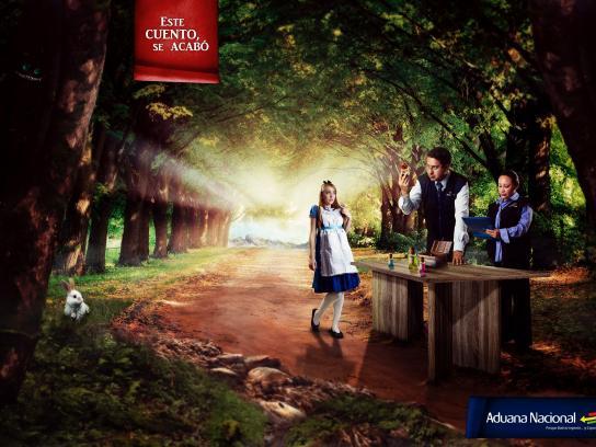 Aduana Nacional de Bolivia Print Ad -  This story ends here, 1