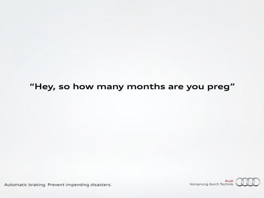 Audi Print Ad -  Pregnant