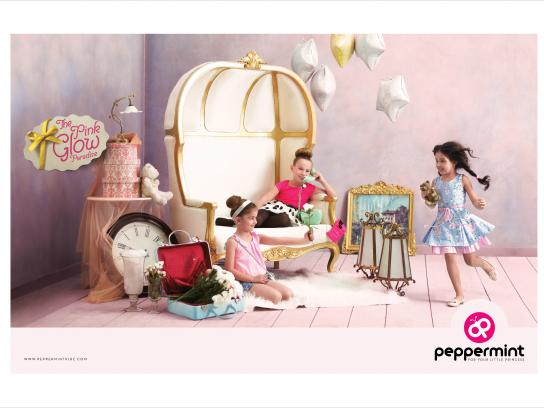 Peppermint Print Ad - Pink glow