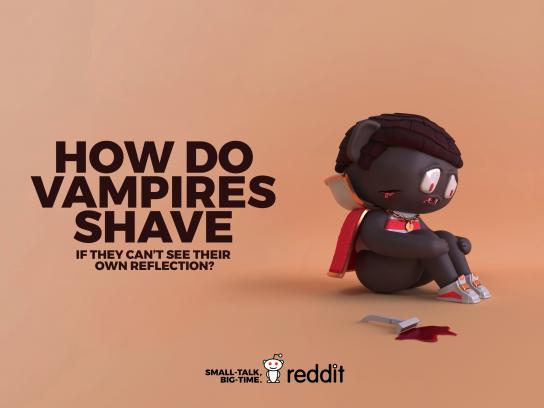 Reddit Print Ad - Useless Curiosity - Vampire