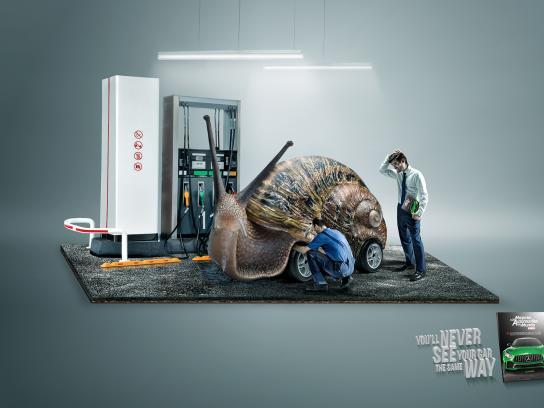 Automovil Panamericano Print Ad - Snail