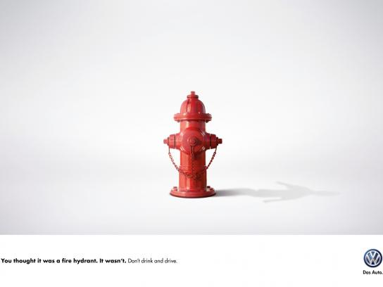Volkswagen Print Ad -  Fire hydrant