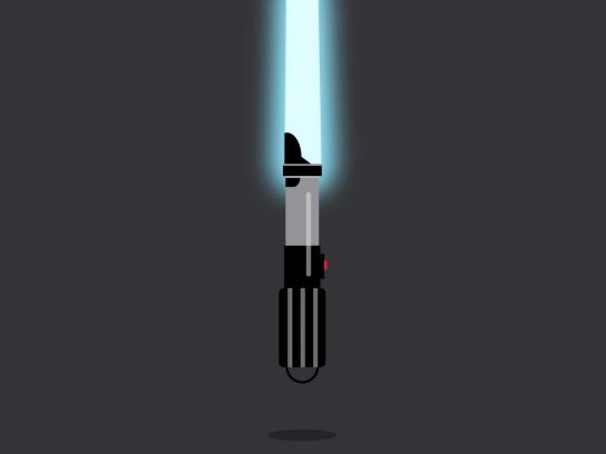 Future Shorts Print Ad -  Lightsaber