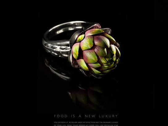 Le Silpo Delicacy Grocery Store Print Ad - Artichoke