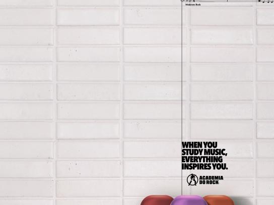 Academia do Rock Print Ad - Smells like teen spirit