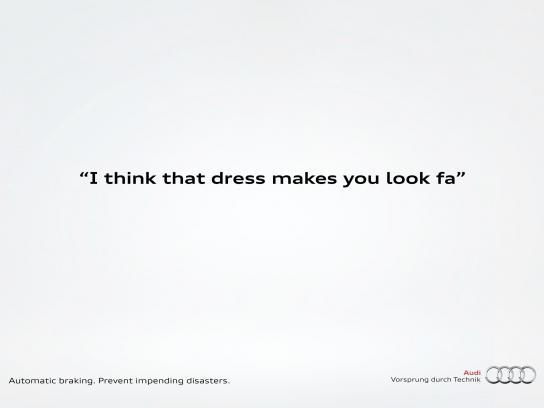 Audi Print Ad -  Fat