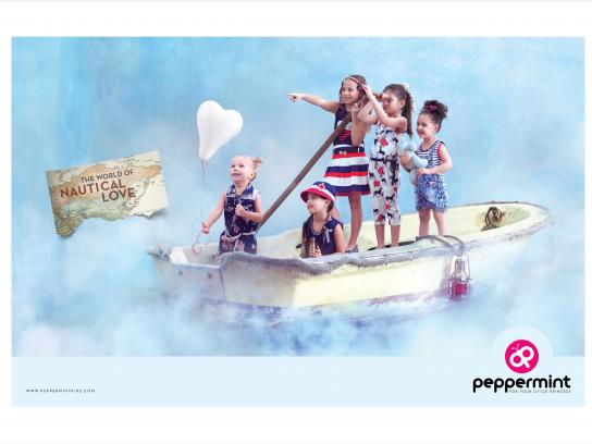 Peppermint Print Ad - Nautical love