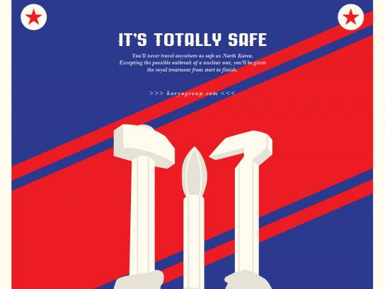 Koryo Tours Print Ad - North Korea Tourism - Safety