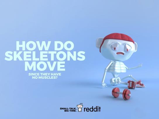 Reddit Print Ad - Useless Curiosity - Skeleton