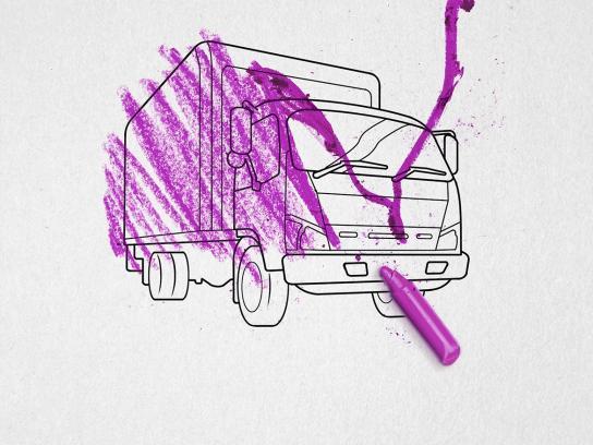 Nissan Print Ad -  Purple