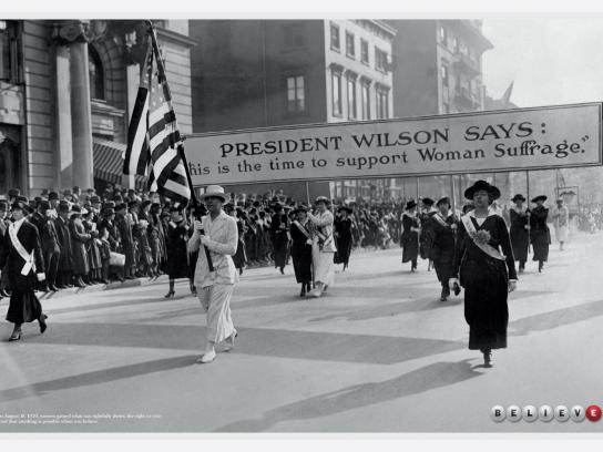 The California Lottery Outdoor Ad -  Women's Suffrage