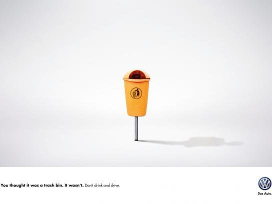 Volkswagen Print Ad -  Trash bin