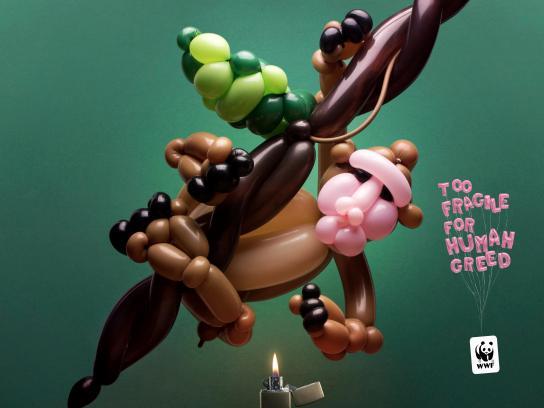 WWF Print Ad - Ballon animals, 3