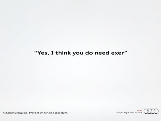 Audi Print Ad -  Exercise