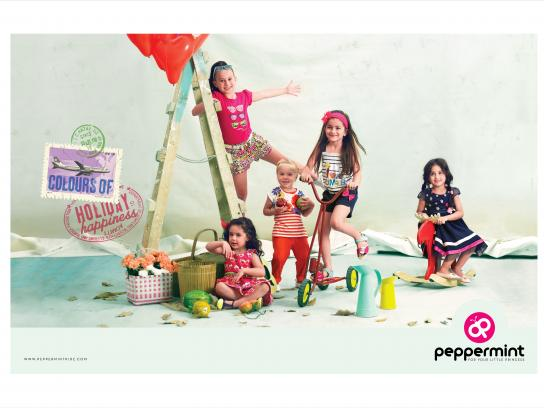 Peppermint Print Ad - Colours of holiday happyness