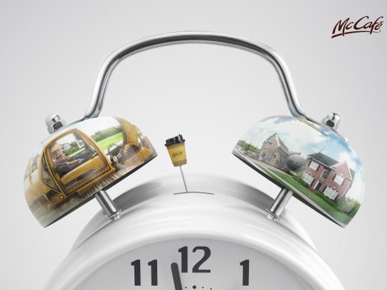 McCafé Print Ad - Alarm Clock, 3