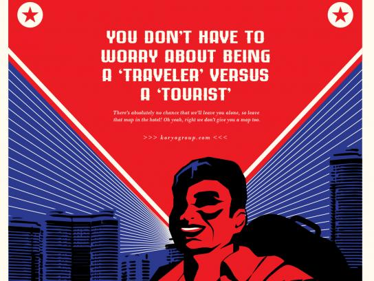 Koryo Tours Print Ad - North Korea Tourism - Tourist