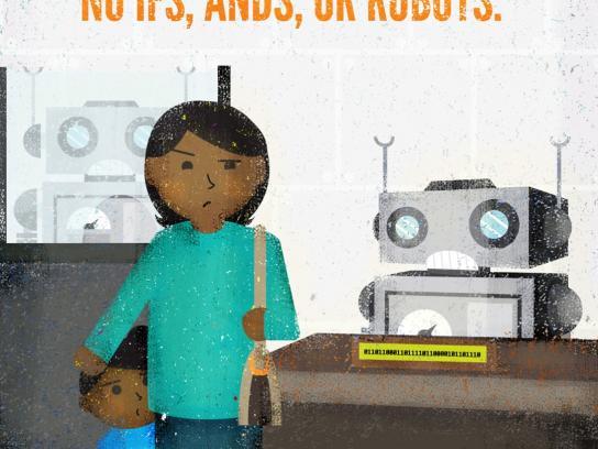 Philadelphia Federal Credit Union Print Ad -  Robots