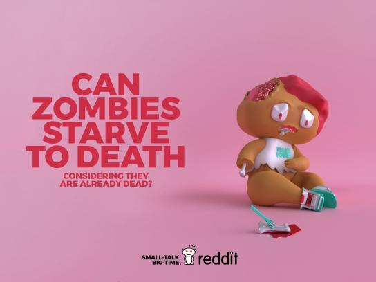 Reddit Print Ad - Useless Curiosity - Zombie