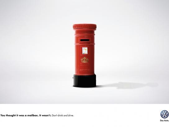 Volkswagen Print Ad -  Mailbox