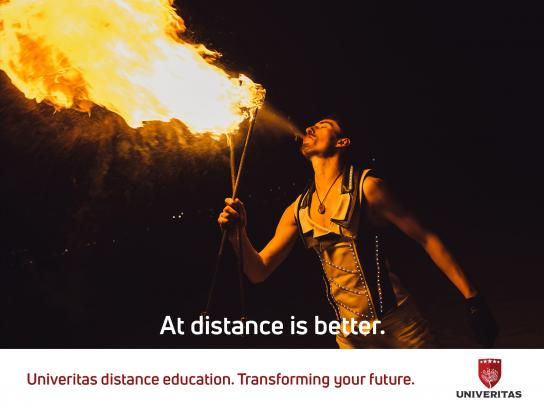 Univeritas Print Ad - Fire