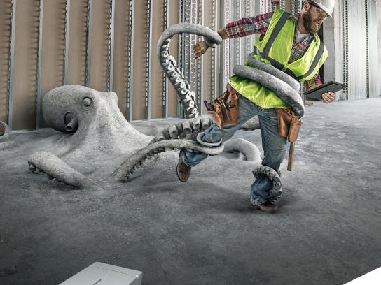 USG Corporation Print Ad - Structural Panels - Octopus