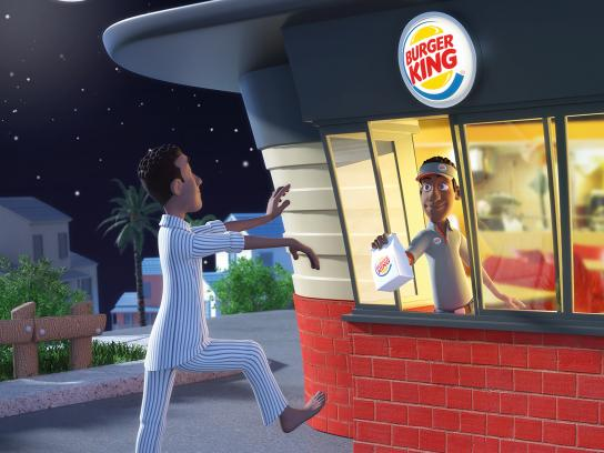 Burger King Print Ad - Night Owls, 1