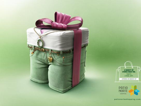 Pátio Norte Shopping Print Ad -  Real gift, 4
