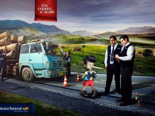 Aduana Nacional de Bolivia Print Ad -  This story ends here, 4