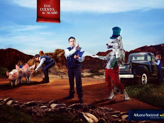 Aduana Nacional de Bolivia Print Ad -  This story ends here, 5