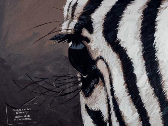 Noah's Ark Creative Print Ad -  Zebra
