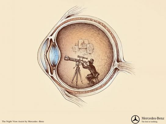 Mercedes Print Ad - Telescope
