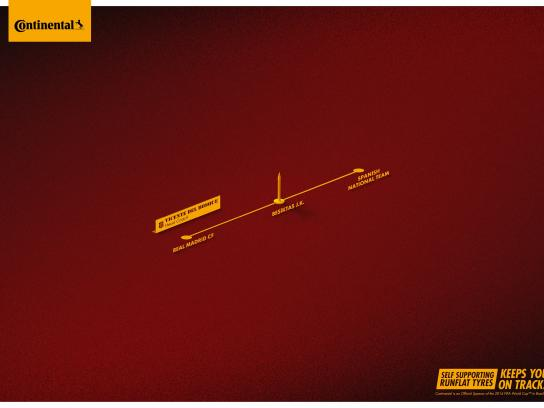 Continental Print Ad -  On track, 1
