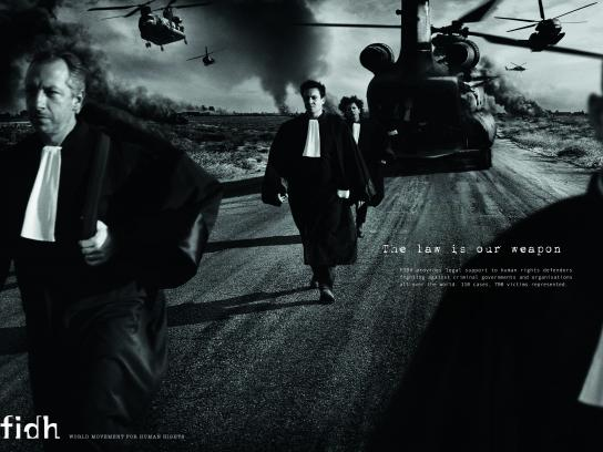 fidh Print Ad - The law is our weapon