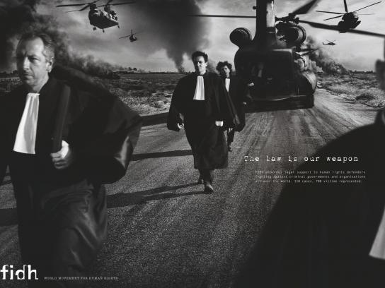 fidh Print Ad -  The law is our weapon, 1