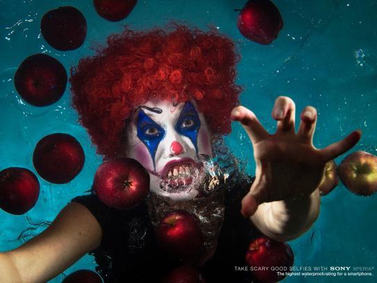 Sony Print Ad -  Underwater selfie, 3