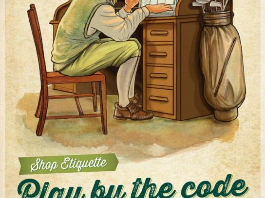PGAShop.com.au Print Ad -  Shop Etiquette, 1