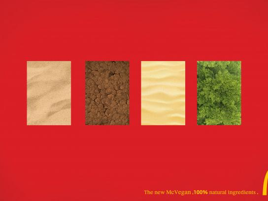 McDonald's Print Ad - 100% Natural Ingredients