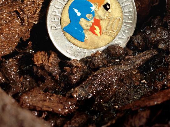 Lend a Hand Print Ad -  Super Coins, 3