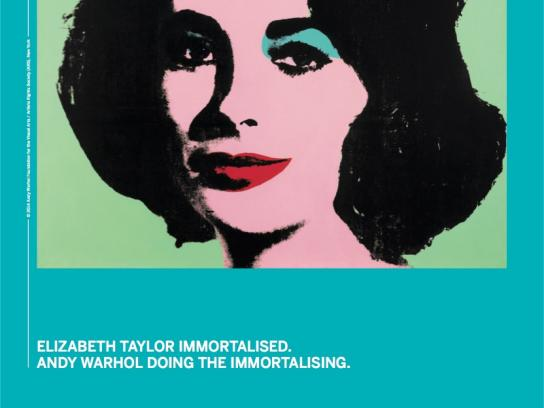 Sotheby's Print Ad -  Andy Warhol