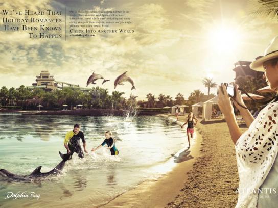 Atlantis Print Ad -  Dolphins