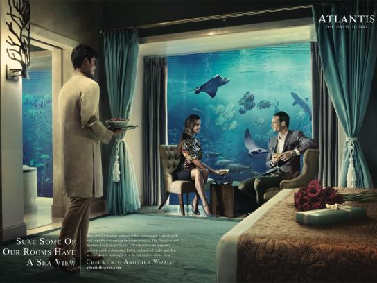 Atlantis Print Ad -  Sea view