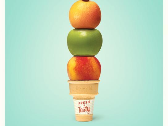 Dallas Farmers Market Print Ad -  Ice-cream cone