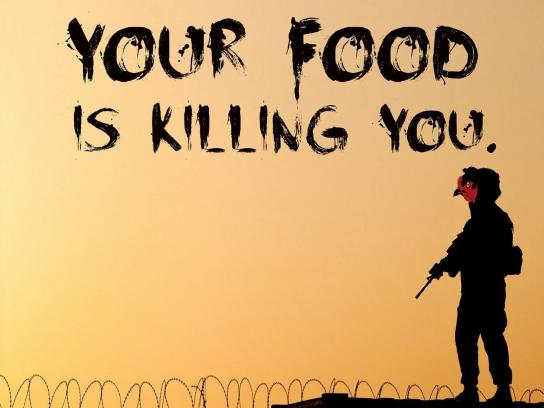 Vegetarian Society Print Ad - Your food is killing you, 3