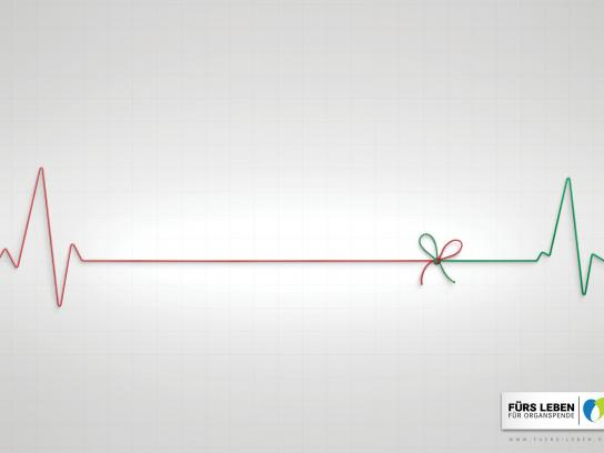 Foundation for Life Print Ad -  Flatline ribbon