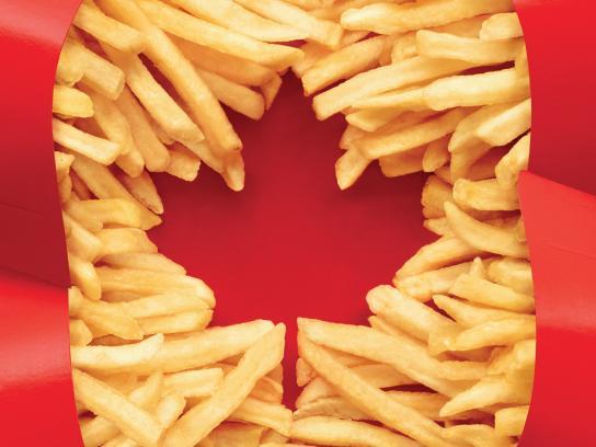 McDonald's Print Ad -  Canadian Flag