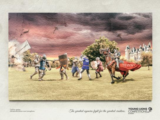 Young Lions Print Ad -  Battle of 1337