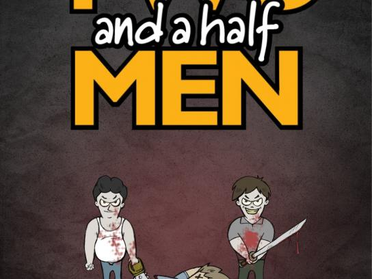 13th Street Print Ad -  Two and a half men