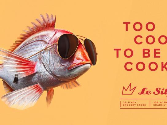 Le Silpo Delicacy Grocery Store Outdoor Ad -  Fish