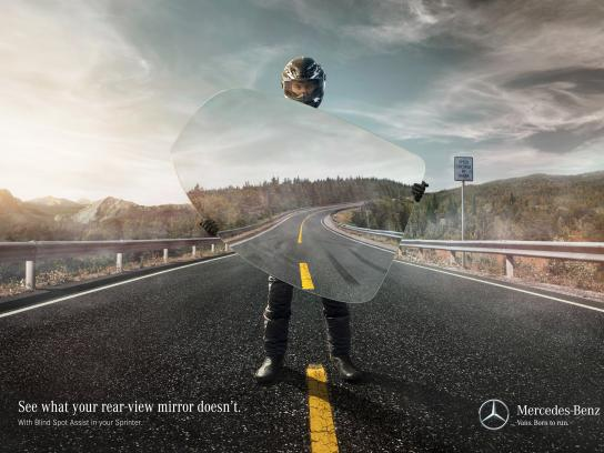 Mercedes Print Ad -  Danger in the rear-view mirror, 2